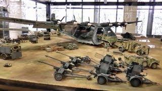 タミヤ春の見学会9 スケールミリタリーモデル ジオラマ Tamiya visit society scale military model diorama