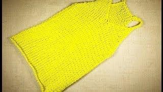 getlinkyoutube.com-Cómo hacer una camiseta de tirantes con telar circular (Tutorial DIY)