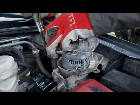 Замена топливного фильтра на Pajero Sport II 2.5D