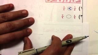 االصف الخامس الوحدة السابعة درس(17- 6)       استكشاف المقارنة بين الكسور وترتيبها