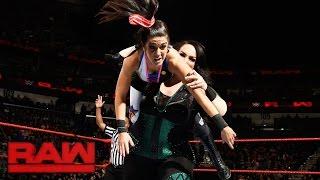 Bayley & Sasha Banks vs. Charlotte Flair & Nia Jax: Raw, Jan. 9, 2017 width=