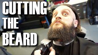 getlinkyoutube.com-CUTTING THE VIKING BEARD & MAN BUN HAIR | STYLING TOP KNOT