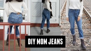 DIY mom jeans by minimalistikelly