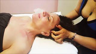 getlinkyoutube.com-Chinese Girl powerful Girl Head Massage  - ASMR video