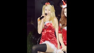141225 아프리카TV 헬로비너스(HELLOVENUS) - santa baby 나라 직캠