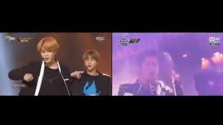 getlinkyoutube.com-BTS 방탄소년단 & Shinhwa 신화 - Perfect Man 퍼펙트맨  comparison