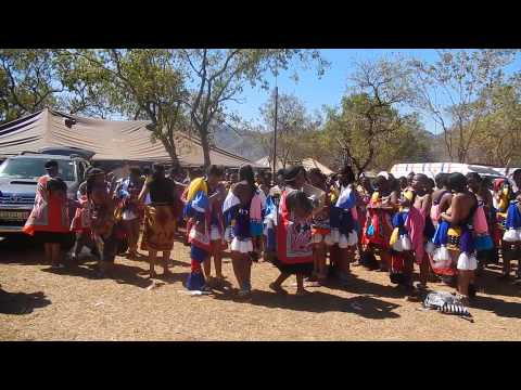 Reed Dance in Swaziland 2013 part 1