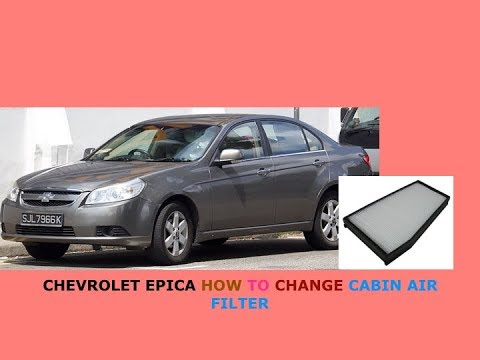 Chevrolet Epica how to change cabin air filter