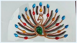 getlinkyoutube.com-Peacock Kundan Rangoli