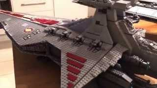 getlinkyoutube.com-Lego Star Wars Venator Class Star Destroyer and 10030 and 10221