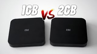 1GB vs 2GB de RAM en Android, comparando dos TV BOX de THL