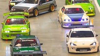 AMAZING RC DRIFT CAR RACE MODELS IN ACTION / Modell Süd Stuttgart 2016