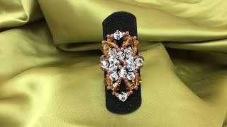 getlinkyoutube.com-Tutorial Anillo Tupis SWAROVSKI Facetada y Rocalla