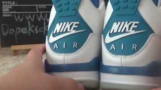 getlinkyoutube.com-authentic air jordan 4 retro og 89 military blue reviews dopekicks23.cn wholesale