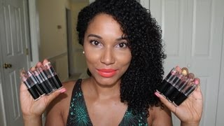 getlinkyoutube.com-My Wet N Wild Lipstick Collection (Lip swatches)