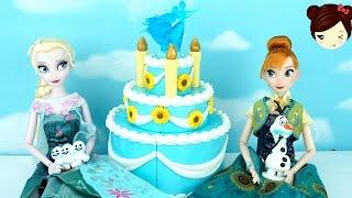 getlinkyoutube.com-Frozen Fever Juguete Fiesta Cumpleaños de Anna - Birthday cake play set