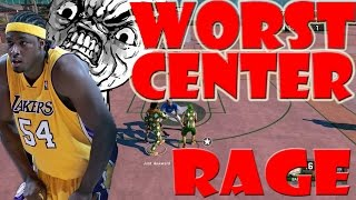 THE WORST CENTER RAGE - NBA 2K16