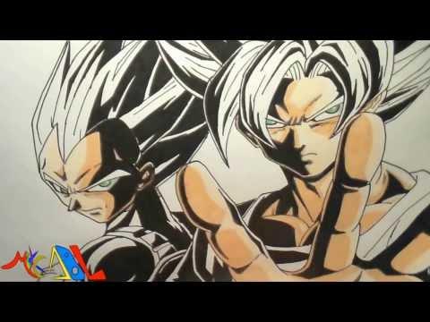 Dibujando a: Goku y Vegeta