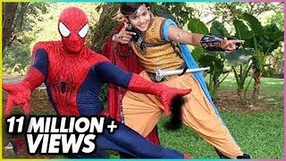 getlinkyoutube.com-Spiderman Visits The Set Of Baal Veer - ON LOCATION