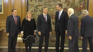 Reunión de S.M. el Rey con el Presidente de Argentina, Mauricio Macri.