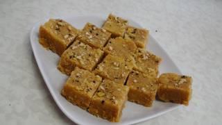 getlinkyoutube.com-Mohanthal  Recipe Video - Besan Burfi  - Gram flour Fudge - Indian Recipes by Bhavna