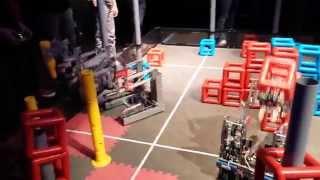 getlinkyoutube.com-VEX Robotics Skyrise Gael Force 5327A/5327C 88 Point Run - Bellarmine Practice Match Angle 1