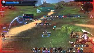 getlinkyoutube.com-Tera My Gunner vs Reaper + Warrior + Gunner + Healer (Open World PvP)