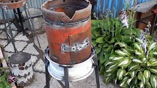 getlinkyoutube.com-печка для казана из газового баллона