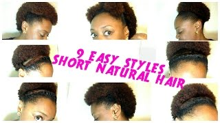 getlinkyoutube.com-9 BACK TO SCHOOL hairstyles for SHORT NATURAL HAIR | The Curly Closet