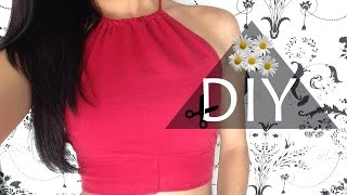 getlinkyoutube.com-DIY : Halter top feito com legging | Top Cropped Tumblr super easy