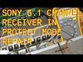 Sony Audio Receiver in Protect mode Repair Fix STR-DG720