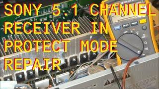 getlinkyoutube.com-Sony Audio Receiver in Protect mode Repair Fix STR-DG720