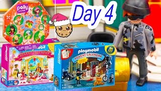 getlinkyoutube.com-Polly Pocket, Playmobil Holiday Christmas Advent Calendar Day 4 Toy Surprise Opening Video
