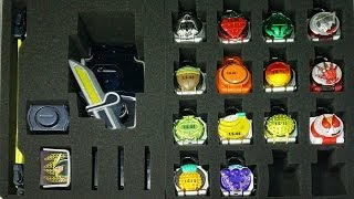getlinkyoutube.com-仮面ライダー 鎧武 ガイム ロックシードケース 戦極ドライバーとロックシード32個、フェイスプレート4枚収納可能 Kamen Rider Gaimu Lock Seed case