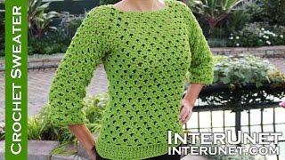 getlinkyoutube.com-Lace sweater crochet pattern