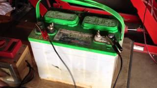 getlinkyoutube.com-Lead Acid Battery Desulfation Using Epsom Salt  -After Overnight Full Charge   Part 4 of 6