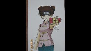 getlinkyoutube.com-Naruto- Drawing and Coloring Tenten  テンテン