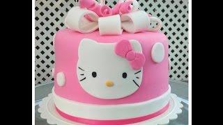getlinkyoutube.com-Birthday cake : HELLO KITTY slideshow