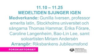 Forskartorget2016 - Medeltiden sjunger igen
