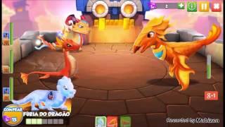 getlinkyoutube.com-Enfrentando o último Dragão Chefe KORLOTH - Dragon Mania A Lenda - Batalha CASTELO DE CRYSTO