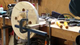 getlinkyoutube.com-Turning the Bandsaw Wheels - CNCnutz Episode 25
