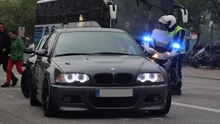 getlinkyoutube.com-BMW M3 E46 DRIFT in the city - BUSTED by POLICE!!
