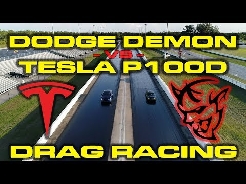 Dodge Demon and Tesla Model S P100D