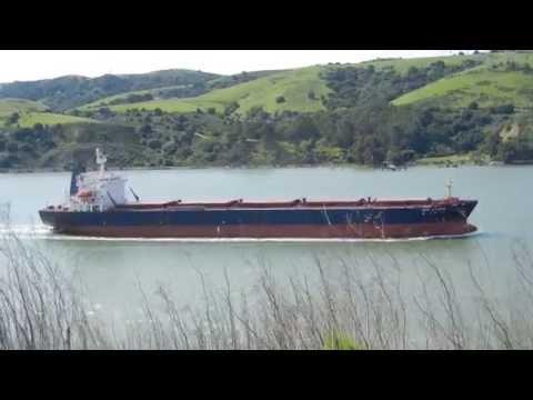 Click to view video New Horizon transiting Carquinez Strait