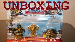 getlinkyoutube.com-Skylanders SuperChargers - Legendary Sky Racing Pack (Astroblast, Sky Trophy, Sun Runner) UNBOXING