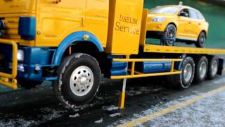 getlinkyoutube.com-Realistic RC experience - TRANSPORT SELF LOADER BENZ TRUCK release,,,