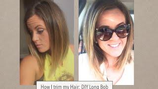 getlinkyoutube.com-How I cut my hair: Long bob trim