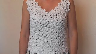 getlinkyoutube.com-How to crochet flower tunic top   Floral motif crocheted Part 2