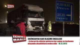 Kar Yağışı Erzincan'da Ulaşımı Felç Etti
