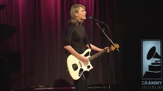 "getlinkyoutube.com-Taylor Performs ""Wildest Dreams"" at The GRAMMY Museum"